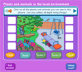 Plants and Animals Game for Ages 6 - 7
